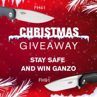 Ho-ho-ho 🎅 CHRISTMAS GIVEWAY! Win FH41-GY and FH91-BK during the holidays🎄 More details on our Facebook page, link in BIO. Merry Christmas and Happy New Year🎅🎄 #ganzoknife #ganzoknives #firebirdknife #giveaway