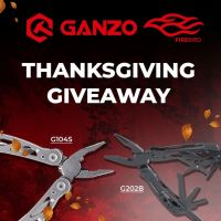 WOW💥 Thanksgiving GIVEAWAY🔥 All of you have a chance to win multitools G202-B and G104-S🎉 More details on our Facebook page, link in BIO. Happy Thanksgiving and Good LUCK to ALL✊ #ganzoknife #ganzoknives #firebirdknife #giveaway